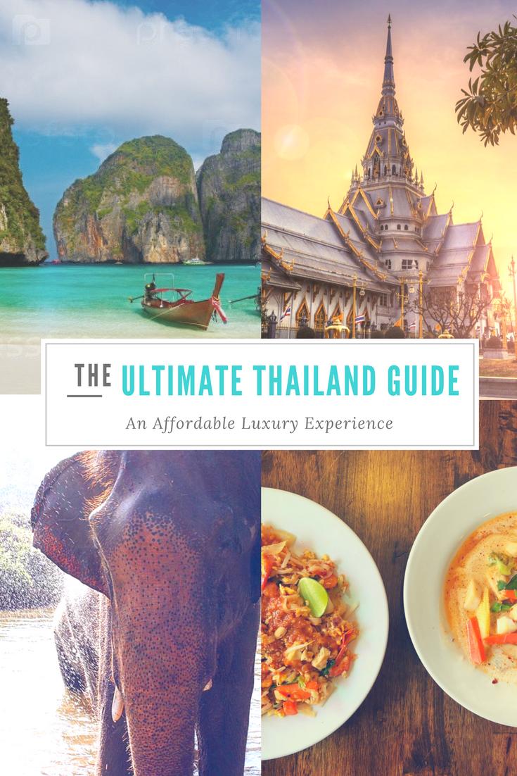 The Ultimate #Thailand Itinerary for Affordable Luxury Travel. www.monacorona.com #KohSamui #ChiangMai #Phuket #KohPhiPhi #Krabi