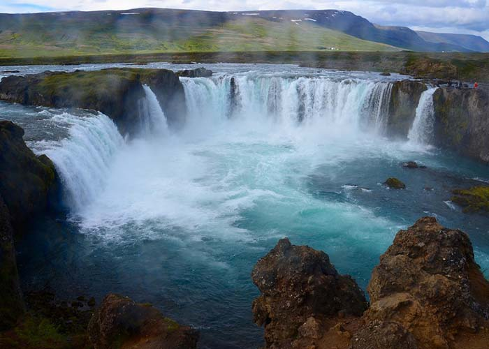 Goðafoss waterfall iceland east fjords