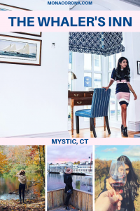 Looking for a cozy fall destination in the US? Click here to read all about New England's most charming hotel, The Whaler's Inn of Mystic, Connecticut. In this blog post you will also find the top things to do in Mystic, where to eat in Mystic, and the best places to see the beautiful fall foliage in Mystic, CT.   MonaCorona.com   #USA #travel #northamerica #Connecticut #mysitcct #fall #autumn #newengland