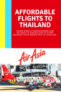 Looking for cheap flights to Thailand? Click here to learn how to find cheap flights to Chiang Mai with AirAsia in this Chiang Mai day trip travel guide. Fly Air Asia for affordable flights to Bangkok or other major cities in Thailand or throughout Asia.   MonaCorona.com   #thailand #travel #flights #hotels #chiangmai #bangkok #thingstodo #airline #southeastasia #temples #elephantsanctuary #nimmanroad #lampang #digitalnomad #expat #travelblogger