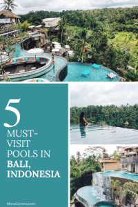 Traveling to Bali soon? Click here to see the top most amazing infinity pools in Bali, Indonesia | MonaCorona.com | Things to do in Bali | Bali Bucket List | #Bali #thingstodoin #hotels #beaches #travel #wanderlust #bucketlist #vacation #honeymoon #ubud #seminyak #itinerary #uluwatu #instagram #canggu #indonesia #tips #beachclub #infinitypool #villa #resorts #restaurants #holiday