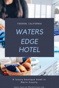 Click here to read a full review of Waters Edge Hotel in Tiburon, California. In this travel guide you will also find the best Tiburon restaurants, and the top things to do in Tiburon: the most charming town of Marin County, in the Bay Area of Northern California. | MonaCorona.com | #tiburon #marincounty #sanfrancisco #angelisland #goldengatebridge #travel #thingstodo #traveltips #itinerary #california #bayarea #belvedere #usa #northamerica #northerncalifornia #norcal #travelguide #sponsored