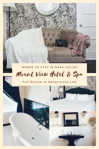 Click here to read a review on where to stay in Napa Valley. This Calistoga travel guide will also show you where to go wine tasting in Napa Valley, where to eat in Napa Valley, and the best things to do in Napa Valley, California. | MonaCorona.com | #napavalley #calistoga #travel #hotels #wineries #winetasting #itinerary #honeymoon #romanticgetaway #restaurants #vacation #california #usa #wheretostayin #thingstodoin #girlstrip #bacheloretteparty #wanderlust #bucketlist #travelguide