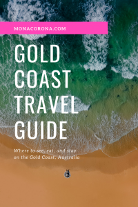 Click here for a complete and concise Gold Coast Travel Guide! This Gold Coast itinerary covers the top things to do on the Gold Coast, the best restaurants on the Gold Coast, and where to stay on the Gold Coast (best Gold Coast hotels.) Everything you need to know about traveling to the Gold Coast, Australia is right here! | #monacorona #goldcoast #australia #queensland #hinterland #travel #itinerary #thingstodo #restaurants #hotels