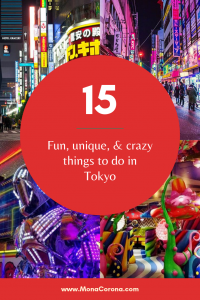 Click for the ultimate Tokyo Bucket List! This Tokyo travel guide shares all the top things to do in Tokyo to have the most epic & kawaii Tokyo trip ever! Learn about all the fun, crazy, and best things to do in Tokyo, Japan and get some great ideas for your Tokyo itinerary. Your Tokyo vacation/Tokyo holiday will be one to remember. Explore the best of Shibuya, Shinjuku and more with themed cafes, the best sushi in tokyo, and wild experiences   #monacorona #tokyo #travel #Japan #itinerary #asia