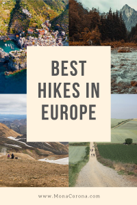 Top 10 best hiking trails in Europe | hiking in Europe trekking Europe hikes European hikes European hiking trails hiking Alps Europe trekking best hikes in France best hiking in Spain Hiking in Iceland hikes hiking in Sweden hikes in Switzerland hiking in Poland Cinque Terre hiking trail waterfall hike hiking in Germany Black Forest best hikes in Scotland hiking Camino de Santiago Mont Blanc Laugavegur Trek Transylvanian Mountain Trail Kungsleden Trail West Highland Way #europe #travel #hiking