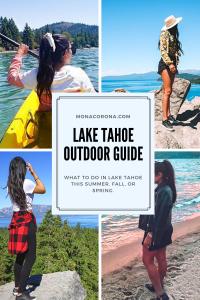 Lake Tahoe Travel Guide / Lake Tahoe Itinerary - Summer / Fall/Spring. North Lake Tahoe, South Lake Tahoe, Where to stay in Lake Tahoe, Best things to do in Lake Tahoe, Lake Tahoe Hotels, Emerald Bay, Sand Harbor, Lake Tahoe vacation, Tahoe Kayaking, Truckee, Incline Village, Secret Cove, Lake Tahoe hikes, King's Beach, Zephyr Cove, Clear Kayak, tahoe picture ideas, tahoe paddle boarding, tahoe restaurants, where to eat in lake tahoe, carson valley, reno tahoe, what to doin lake tahoe, photos