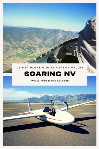 Looking for things to do in Nevada? Take a glider plane ride in Carson Valley with SoaringNV! Glide over the beautiful Sierra Nevada Mountains and Lake Tahoe from a tiny (and safe!) engineless plane. This is one of the most unique things to do near Lake Tahoe or Reno on your trip. Go off the beaten path and explore all that Carson Valley has to offer, from the oldest bar/thirst parlor to amazing hiking and wildlife. A perfect stop for a road trip! #carsonvalley #Genoa #USA #Nevada #travel
