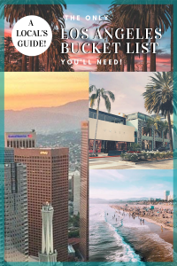 Los Angeles Bucket List & LA travel guide for your LA itinerary! Los Angeles, California. Discover the top things to do in Los Angeles & things to do in California. LA Restaurants, Beach, hiking, where to stay in los angele /LA hotels, best LA foodie spots, LA museums where to go shopping in LA, and the best LA neighborhoods from Downtown LA, Little Tokyo, Echo Park, Silverlake, Hollywood, West Hollywood, Mid-city, Beverly Hills, Santa Monica, Venice, Malibu. #losangeles #travel #usa #california