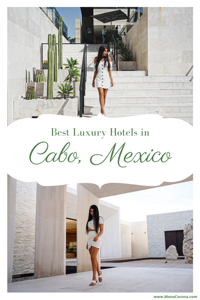 Deciding where to stay in Cabo San Lucas, Mexico? This Los Cabos travel guide compares the best hotels in Cabo for LUXURY! Read my review of Nobu Hotel Los Cabos, Solaz Los Cabos, and The Cape, a Thompson Hotel. I also cover the best restaurants in Cabo / where to eat in Cabo, where to see El Arco and the best beach clubs in Cabo. The best of Mexico resorts for your perfect Cabo Itinerary. Perfect for a honeymoon, bachelorette party, romantic getaway/couples trip or friends #cabo #mexico #travel