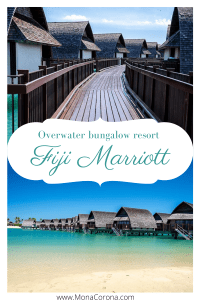 Fiji Travel Guide! Click to read my full review of Fiji Marriott Momi Bay, in Viti Levu, near Nadi/Suva in the Fiji Islands. Find out why this overwater bungalow villa resort is the best hotel in Fiji, perfect for a Fiji honeymoon or luxury Fiji vacation/holiday. Perfectly situated near one of the best beaches in Fiji with lots of things to do on the island. A great place to snorkel, scuba, and island hop.Fiji Marriott Momi Bay is a must for your Fiji itinerary! #fiji #travel #itinerary #hotels