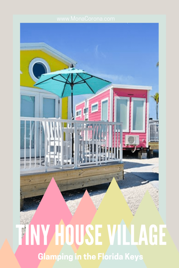 Glamping in a Tiny House in the Florida Keys! Just 30 miles from Key West, you'll find Petite Retreats Sunshine Key Tiny Village at Encore RV park in Ohio Key. These colorful and luxurious tiny houses have everything you need inside. A great idea for where to go in 2021! It's better than a hotel or resort and near all the best things to do in the Florida Keys. A luxury camping trip awaits you! #floridakeys #Keywest #tinyhouse #tinyhouseliving #glampin